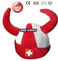 Hopp Schwiiz Fan Hörner Fanhut Hut Mütze WM Fussball WM EM Teufel Suisse Switzerland Fan Shop Fanshop Schwiiz Fussball Hockey WM EM Support