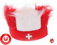 Hopp Schwiiz Schweiz Suisse Nati Fanartikel Stirnband Strubbelhaar Fussball WM EM Hockey Tennis Fan