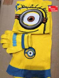Ich – Einfach unverbesserlich Minion Minions Winter Mütze Beanie Kappe Cap Schal Handschh Handschuhe Kind Kinder Fan