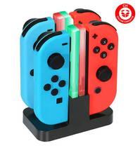 Joy-Con Ladegerät Nintendo Switch Joy-Con 4 in 1 Ladegerät Dock Stand mit LED-Anzeige
