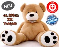 Jumbo Bär Plüschbär Plüschteddy Plüsch Teddy XXL 200cm Geschenk Kinder Freundin Neu