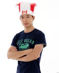 Kanada Canada Fan Kappe Team Canada Fanperücke Strubbelhaar
