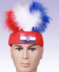 Kroatien Croatia Fan Stirnkappe Kappe Mütze Haare Flagge Fussball WM EM Support