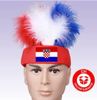Kroatien Fan Stirnkappe Kappe Fussball WM EM Support