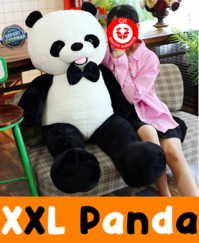 Kuscheltier Panda XXL 150 cm Pandabär Fliege Plüschtier Plüsch Geschenk Kind Kinder Frau Freundin