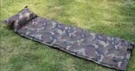 Militär Selbstaufblasbare Luftmatratze Schlafmatte Schlafsack Outdoor Camping Reisen Openair Camouflage Gampel