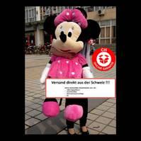 Minnie Maus Stofftier riesig XXL Plüschtier Minniemaus ca. 130cm XXL Geschenk Mädchen Girl