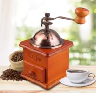 Nostalgie Handkaffeemühle Kaffeemühle Kaffe Mühle Holz Retro Hand Coffee Deko Haushalt Romantik Romantiker