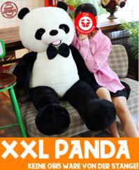 Panda Bär XXL Plüschtier Pandabär Teddy Ted Schwarz Weiss Tedi Schweiz Geschenk Kind Frau Fliege Geschenkidee Geburtstag Weihnachten
