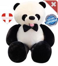 Panda XXL Bär Pandabär Plüschbär Schwarz Weiss Teddy 1.5m 150cm Geschenk Kind Kinder Frau Freundin Weihnachten Geburtstag Plüschtier Kuscheltier Tedi
