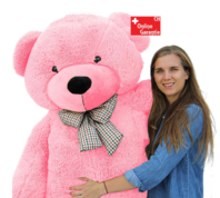 Pink Rosa Riesen Teddybär XXL Kuschelbär Bär 200 cm Gross Plüschbär Original Teddy Bär mit Schleife Geschenk Kind Frau Geburtstag Schweiz