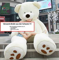 Plüsch Eisbär Teddy Weiss Geschenk 200cm Top Geschenk für alle Eisbärfreunde - XXL Geschenk Teddy