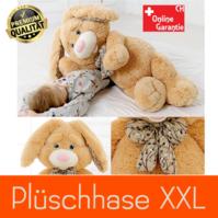 Plüsch Hase XXL Plüschtier Kuschteltier mit Schleife Kaninchen Geschenk Kind Kinder