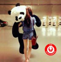Plüsch Panda Pandabär riesig 2 Meter gross Kuscheltier Plüschtier XXL Stofftier Bär Geschenk Kind Frau Freundin