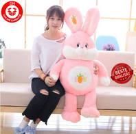 Plüschtier Hase Plüsch Kaninchen Stofftier Plüschhase Spielzeug 150cm 1.5m XXL Kuscheltier Plüschtiere Geschenk Kinder Kind Pink Rosa Rüebli ILY