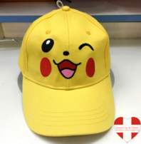 Pokemon Pokémon Pikachu Baseball Cap Basketball Mütze Kappe Fan Erwachsene Gelb Smile Happy