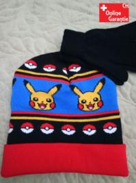 Pokémon Pikachu Winter Kleidung Mütze Beanie Kappe Paar Handschuhe Kind Kinder Fan
