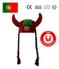 Portugal Fan Hörner Fanhut Hut Mütze WM Fussball WM EM Teufel