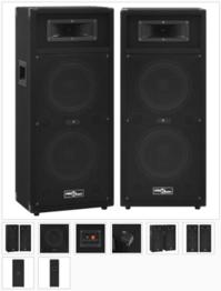 Professionelle HiFi-/Bühnen-Lautsprecher Passiv 2 Stk. 1000 W 9970102