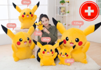 Riesen Pokémon Pikachu Plüsch XL XXL Plüschfigur Plüschtier Kuscheltier 80cm | 120cm Geschenk Fan Kind Frau Freundin TV Kino Game Gaming Accessoire