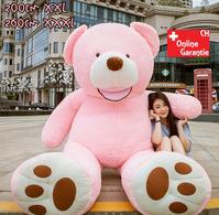 Riesen Teddy Teddybär Plüsch Bär Plüschbär Pink Rosa 260cm Plüschtier Kuschelbär XXL XXXL Geschenk Frau Mädchen Freundin GIANT Valentinstag Geschenk für Geburtstag