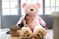 Riesen XXL Teddybär Plüschbär Geschenk Tedi Teddy Pink Rosa 200cm Schweiz Geschenk Geburtstag Kind Frau Freundin Verliebt Love Liebe
