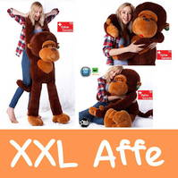 Riesengrosser XXL Plüsch Affe Monkey Plüschaffe 1.3m Geschenk Kind Kinder Frau Freundin