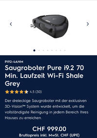 Saugroboter 70 Min. Laufzeit Wi-Fi