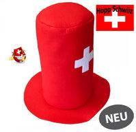Schweizer Schwiiz Swiss Suisse Fan Zylinder Filz Hut Kappe Mütze