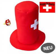 Schweizer Schwiiz Swiss Suisse Fan Zylinder Filz Hut Kappe Mütze Fussball EM