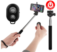 Selfie Stick Bluetooth Selfie Stange Self-portrait Monopod 3in1 Android Samsung Sony HTC iPhone iOS Foto Stick Auslöser Natel Handy Smartphone Neu Set