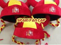 Spanien España Fussball Fan-Artikel Hut Cap Mütze Perücke Wikinger Zöpfe Herren Damen WM 2018 Fan Fanshop