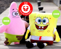 Spongebob Schwammkopf Plüsch Plüschtier Plüschfigur XXL Format ca. 120cm 1.2 Meter Serie TV Film Geschenk Kind Kinder Kids