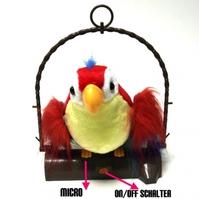 Sprechender Plüsch Papagei Vogel Geschenk Kinder Kids NEU