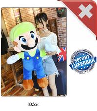 Super Mario Luigi Riesen Plüsch Figur Plüschtier Stofftier Nintendo Geschenk XXL Videospiel Luigi's Mansion Game