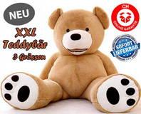 Teddy Bär Plüschbär Ted Plüschtier Plüsch Ted Bärchen Geschenk 3 Grössen 160cm 200cm 260cm