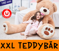 Teddy Bär Teddybär Plüschbär XL Bär Plüschtier XXL Geschenk Kind Frau Freundin Braun Hellbraun Schweiz Ted Tedi