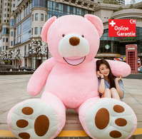 Teddy Teddybär Plüsch Bär Kuschelbär Plüschtier Stoffbär Pink Rosa Mädchen Geschenk Kind Kinder Frau Freundin Weihnachten 200cm 2.0m