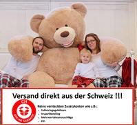 Teddy Teddybär Plüsch Bär Plüschtier XXL Plüschbär Tedi Ted Geschenk 3 Grössen XL XXL XXXL Kind Kinder Frau Freundin Gigantisch Schweiz