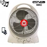 Ventilator aufladbar FM AM Radio Mp3 Player Handy Lautsprecher mit Welt Adapter