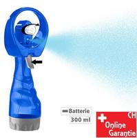 Ventilator mit Sprühflasche Wassersprüher Sommer Outdoor Openair Festival Büro