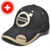 Volvo Cap Mütze Kappe Auto Fan Artikel Accessoire Schwarz Beige
