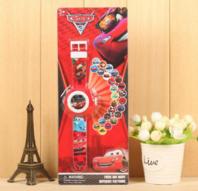 Walt Disney Pixar Cars Lightning McQueen Kinder Uhr Armbanduhr Projektor Armband Auto Fan Junge