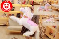 XXL ca. 110cm Einhorn liegend rosa pink weiss flauschig Stofftier Plüsch Pferd Kuscheltier Plüschtier Geschenk Mädchen Kinder Geburtstag